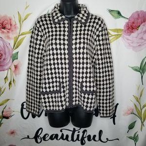 Pendleton harlequin print wool jacket